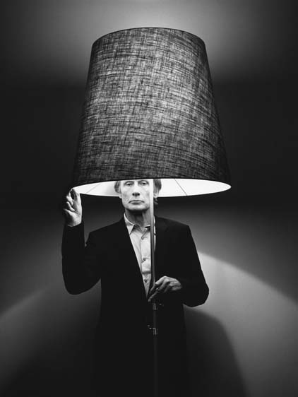 Bill Nighy...with a lampshade on his head :)