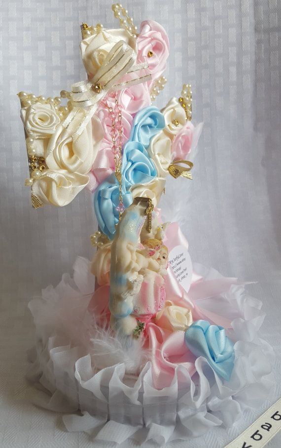 Girl Baptismal Centerpiece/Chic Baptismal by MyCurlyLove on Etsy