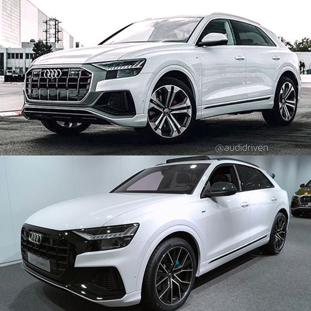 Audi Q8 Last One For Now Which One Would You Choose 1 Grey Grill With Chrome Trim Comment With Or 2 Black Grill With Blackoptics Audi Cars Audi Audi Q