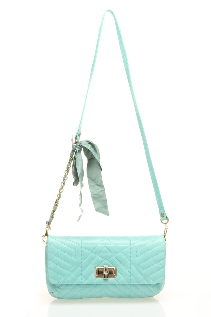 Lanvin Large Happy Quilted Clutch in Vert Clair - Beyond the Rack