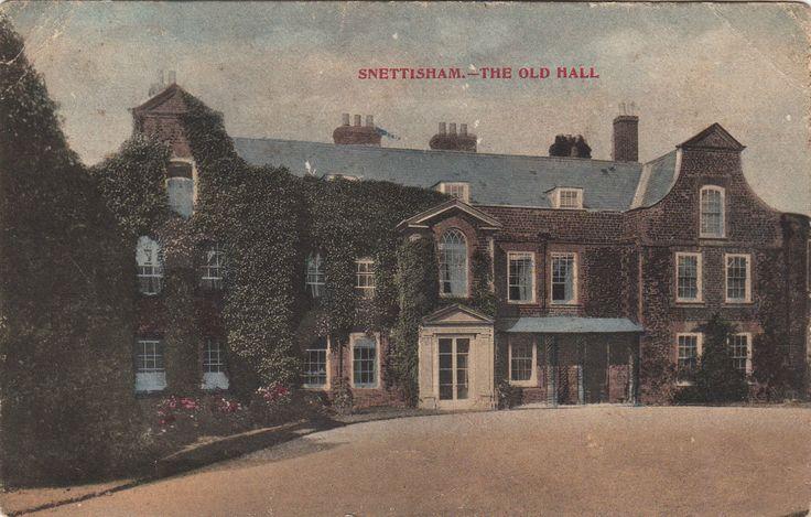 Snettisham village Norfolk The Old Hall coloured photo Postcard early 1900s | eBay