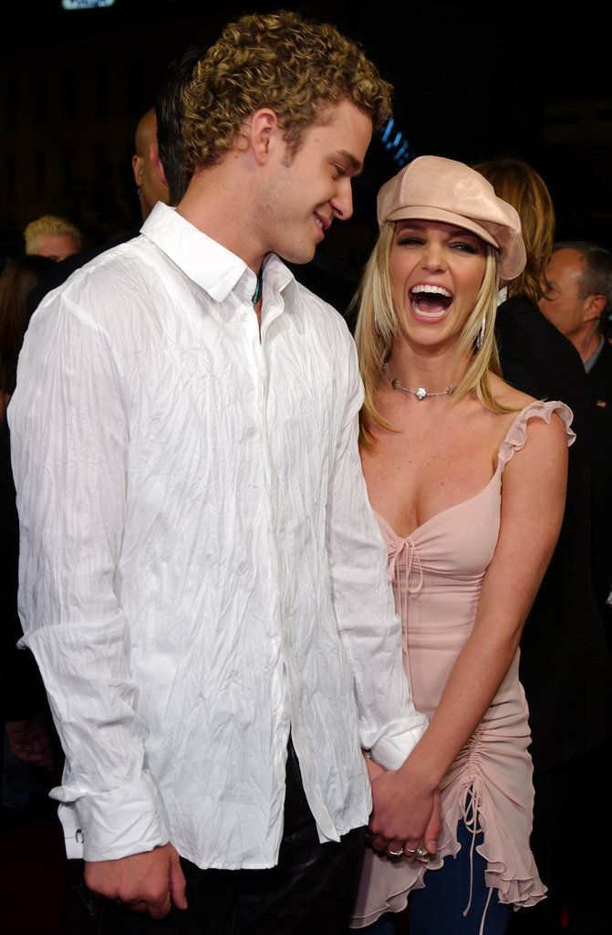 Britney Spears and Justin Timberlake in February 2002.