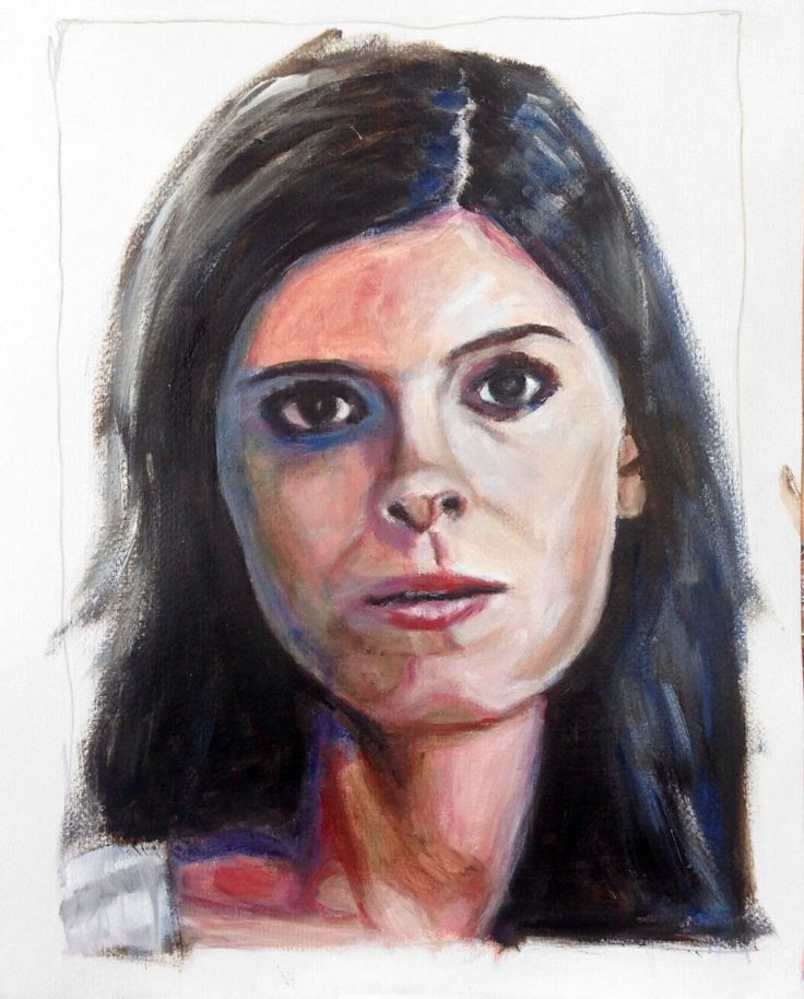 """Kate Mara in """"House of Cards"""", acrylic on paper 40x50"""