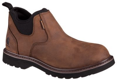 Carhartt Romeo Oxford Waterproof Pull On Work Boots for Men - Brown - 10.5 M