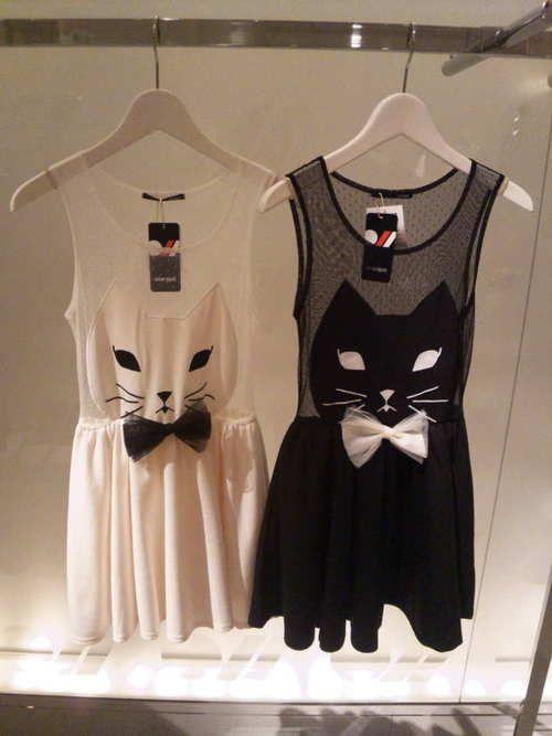chat: Cat Dresses, Kitty Dresses, Kitty Cat, Dresses Fashion, Halloween Costumes, Catlady, Crazy Cat Lady, Black Cat, White Cat