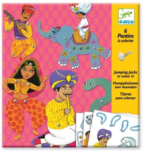Bringing to life a majestic Indian fairy tale is just a small step away with the puppets in this Jumping Jack set from Djeco #craft #djeco #puppets #stockingstuffers
