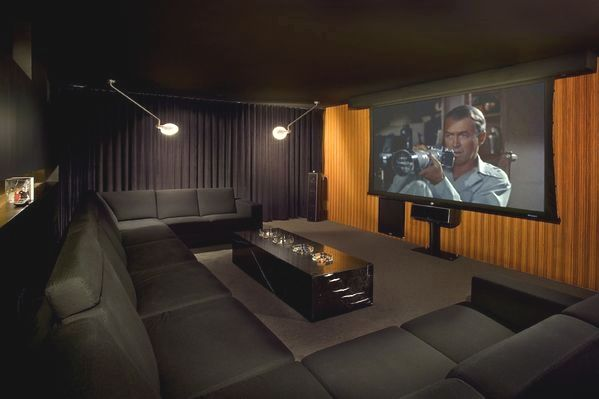 A 12 Person Home Theater Was Installed Upon Its Realization The Basketball Apartment Was T Home Theater Rooms Home Theater Installation Home Theater Design