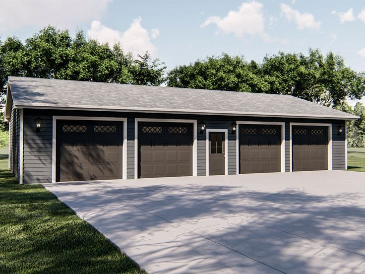 050g 0104 Garage Plan With Boat Storage Garage Plans Detached Barn Garage Plans Garage Plans
