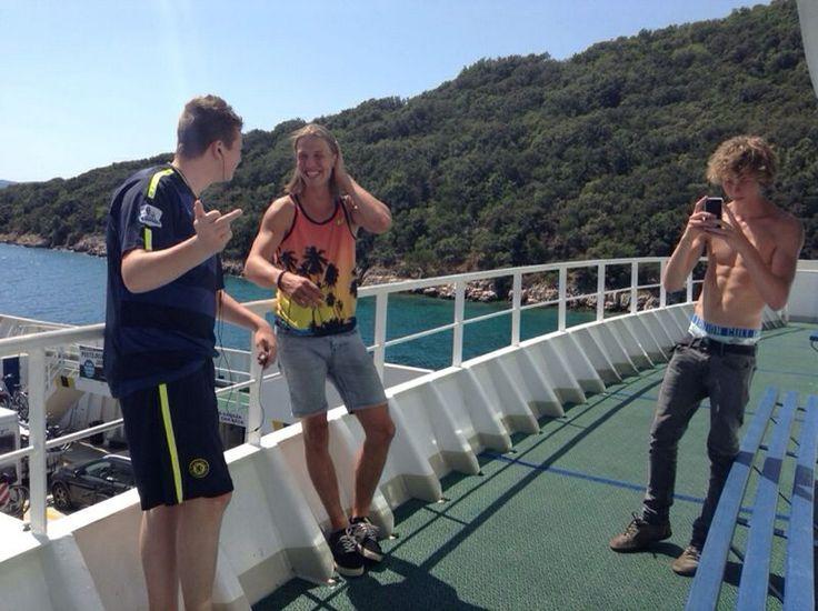 Op vakantie in Kroatie op de boot met Jeldi en m'n broer.