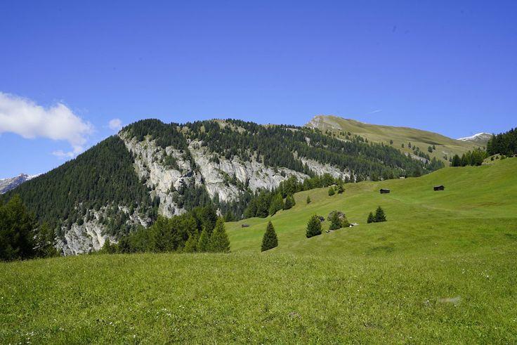 Sommer Eindrück der Landschaft in Nauders am Reschenpass