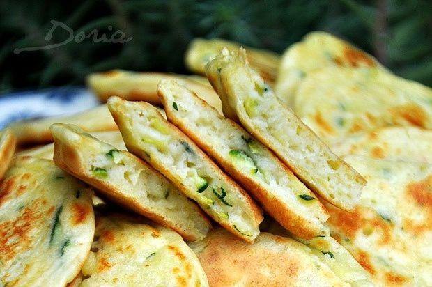 Blinis à la courgette et parmesan