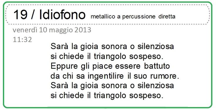 http://it.wikipedia.org/wiki/Triangolo_%28strumento_musicale%29 http://it.wikipedia.org/wiki/Categoria:Idiofoni_a_percussione_diretta