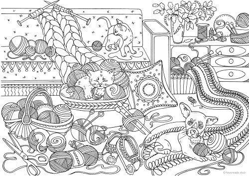 Animals Love Knitting | printables | Printable adult ...