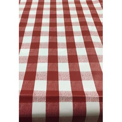 "Ottomanson Essential Checkered Design Indoor/Outdoor Tablecloth Size: 70"" W x 55"" L"