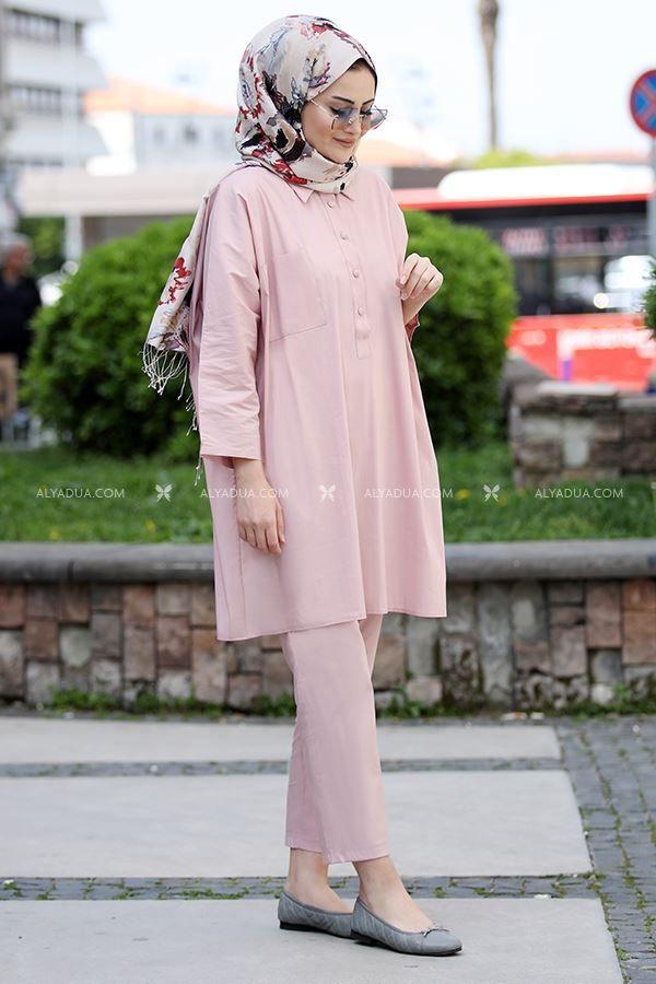 Pudra Beyza Ikili Takim St13687 Alyadua Moda Stilleri Mankenler Giyim