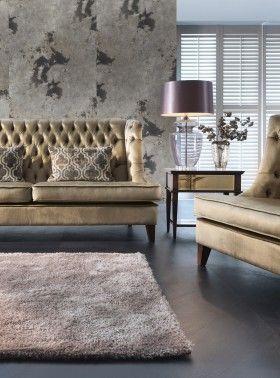 Sofa i fotel Grace, stolik Egiza, ława Pia.