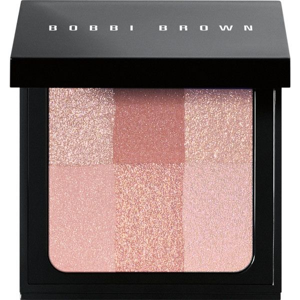 Bobbi Brown Brightening Brick - Pink ($46) ❤ liked on Polyvore featuring beauty products, makeup, cheek makeup, blush, beauty, cosmetics, fillers, colorless, blending brush and bobbi brown cosmetics