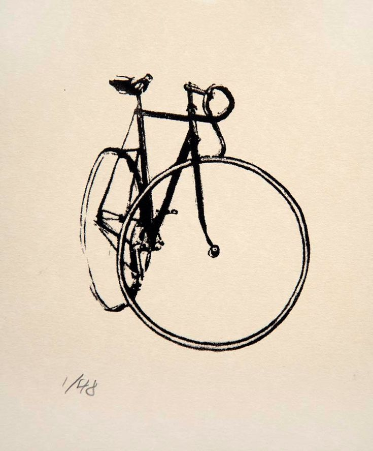 Bicycle Art. I need this framed somewhere in our apartment. Maybe on the brick wall where our bikes will be mounted?
