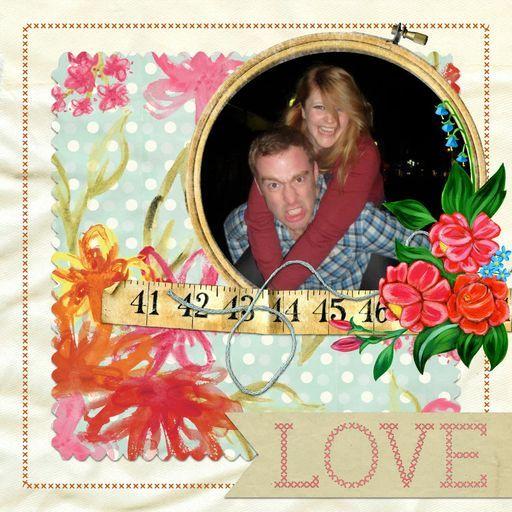 Love card by Becks Miller. Made with Timeless Love Digikit in CraftArtist #craft #digital #DIY #CraftArtist #Serif #card #scrapbook