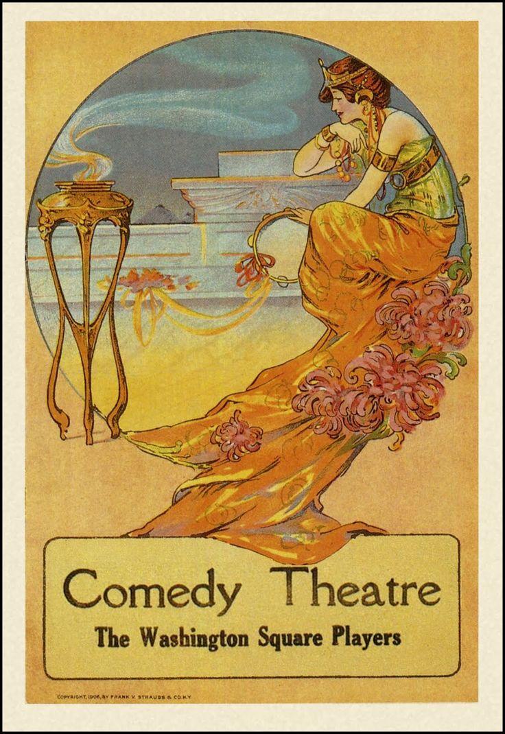 Beautiful art nouveau poster