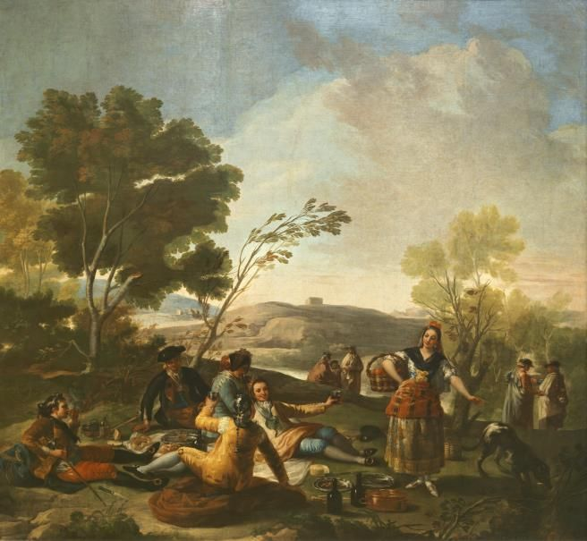 GOYA. La merienda/The Picnic.  Óleo sobre lienzo, 1776 271 x 295 cm.