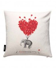 Love carries all - elephant-JUNIQE Pillows