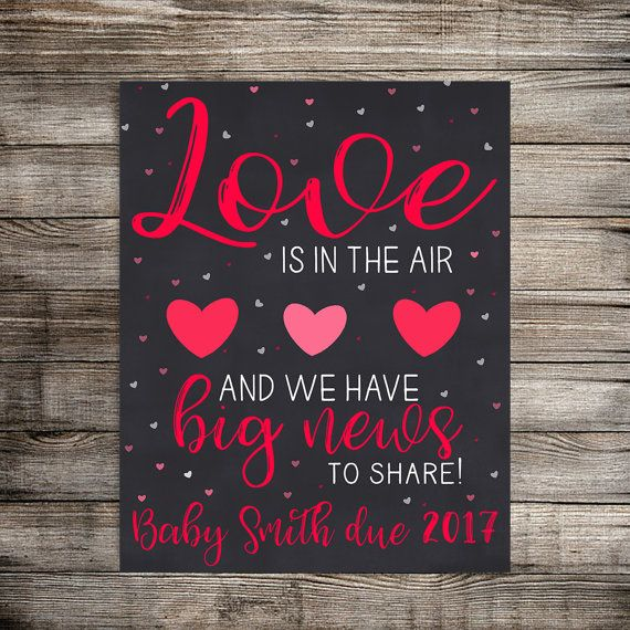 Valentine Pregnancy Announcement, Sweetheart Pregnancy Reveal, Valentines Baby Announcement, New Baby Annoucement Digital Poster