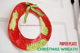 Paper plate Wreaths: Quick and easy Christmas craft for kids