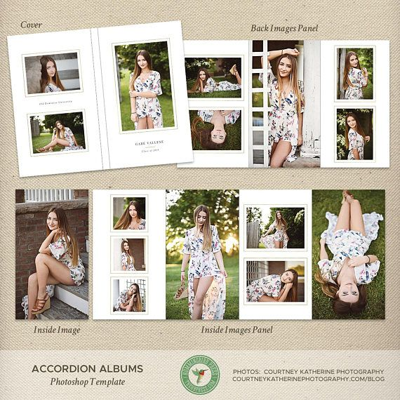 4x8 Accordion Album Template Graduation Album Seniors Album