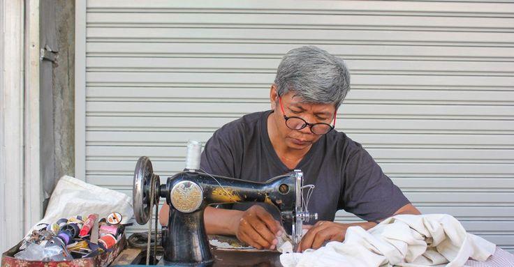 Couturier de rue à bangkok