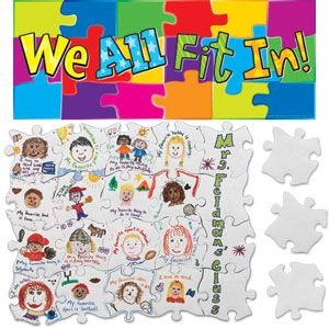 we all fit in puzzle kit - students illustrate then you connect as a class - great first day activity