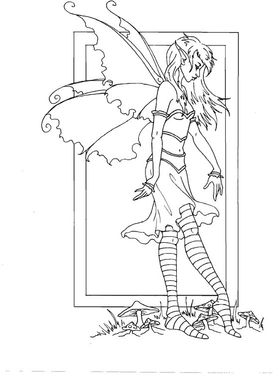 coloring pages of mystical characters - photo#47