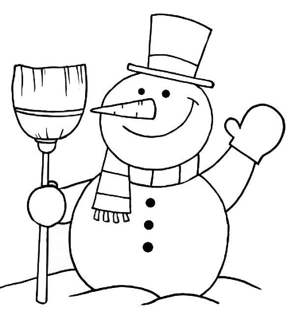 Snowman Coloring Pages Snowman Coloring Pages Christmas