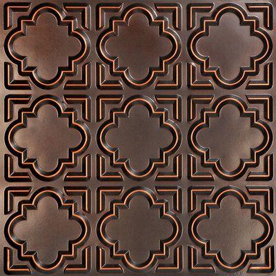 Casablanca - Faux Tin Ceiling Tile - Glue up - 24\ 142 Faux Tin Ceiling Tiles - Casablanca are perfect for a Morocon theme decor.