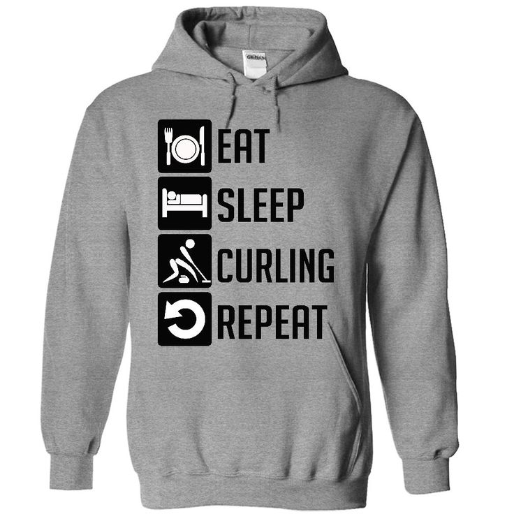 (Greatest Worth) Eat, Sleep, Curling and Repeat t shirts - Gross sales...