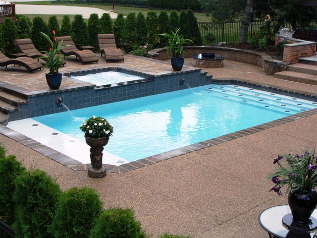 inground swimming pool designs pool design ideas luxury swimming pools and spas sterling heights michigan outdoors pinterest pool designs and