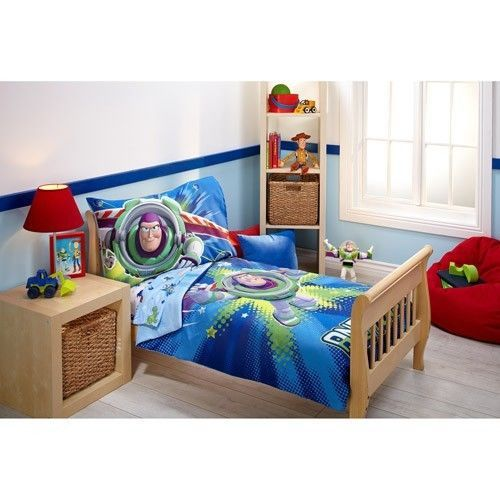 Toy Story Toddler Bedding Set Power Up 4-Piece Buzz Lightyear And Woody Set New #Disney