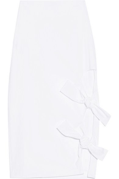White cotton-poplin Hook and concealed zip fastening at side 100% cotton Dry clean