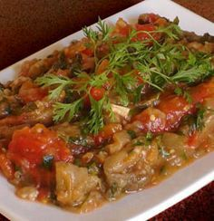 cuisine marocaine - recette marocaine de la salade zaalouk ou salade d'aubergines