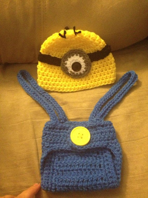 Free Crochet Pattern For Minion Hat And Overalls : 1000+ ideas about Minion Beanie on Pinterest Crochet ...