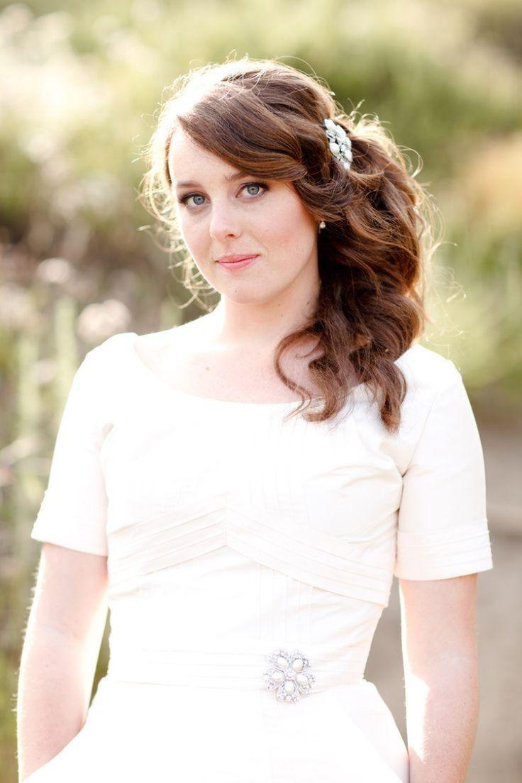 Bridal hairstyles stick sideways – 30 elegant inspirations