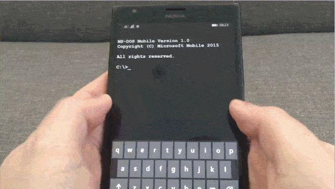 Incrível: MS-DOS Mobile em um Windows Phone. Clique na foto para saber mais.