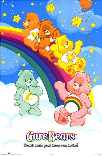 Carebears cartoon, movies & stuffed bears....loved em