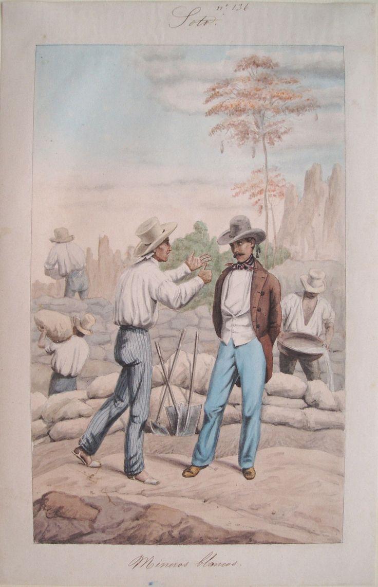 """Mineros blancos. Soto"". Carmelo Fernández, 1850. BNC, 5117."