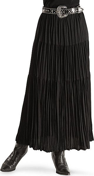Black Broomstick Skirt 80