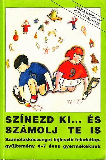 szinezős-számolós, 4-7 éves gyerekeknek