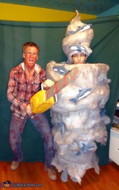 Fin Shepard Battles Sharknado - Halloween Costume Contest via @costume_works