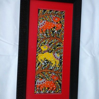Madhubani Folk Art Painting.......