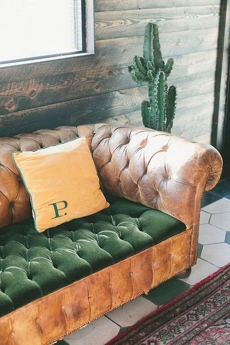 i have come across so many beautiful leather couches missing cushions...perfect