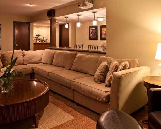 Lots of room for friends and family: Decor Ideas, House Ideas, Basements Design, Contemporary Basements, Living Room, Contemporary Lower, Fun Ideas, Basements Ideas, Basements Remodel